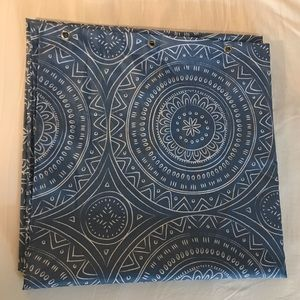 Simons Blue Patterned Shower Curtain